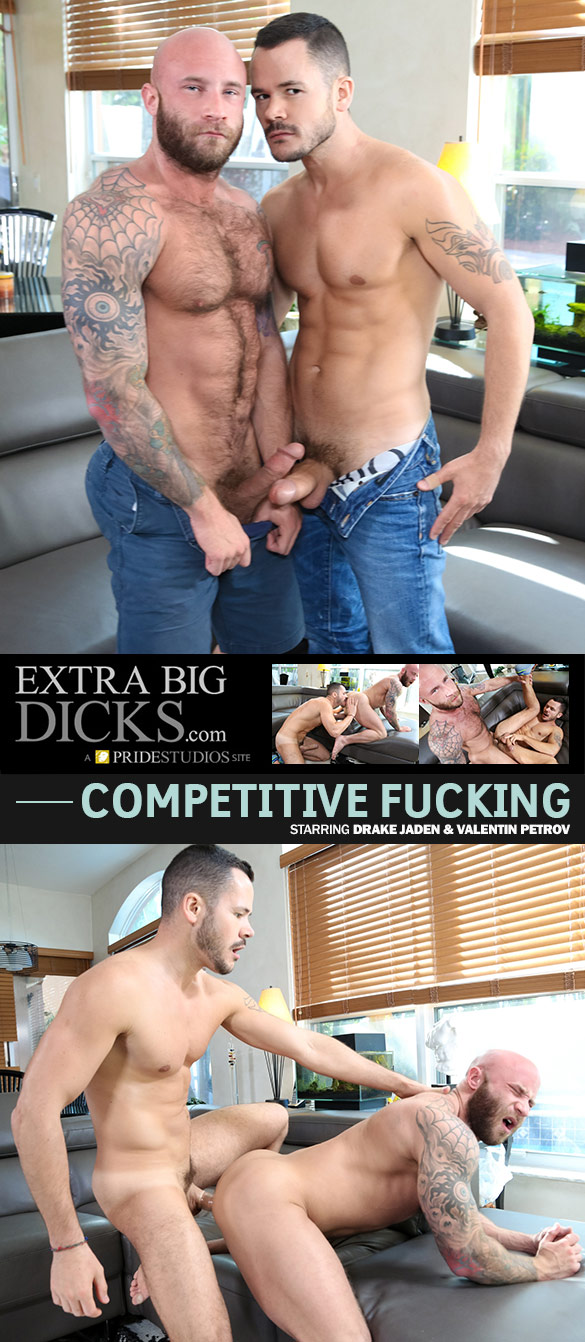 "Pride Studios: Drake Jaden and Valentin Petrov bang each other in ""Competitive Fucking"""