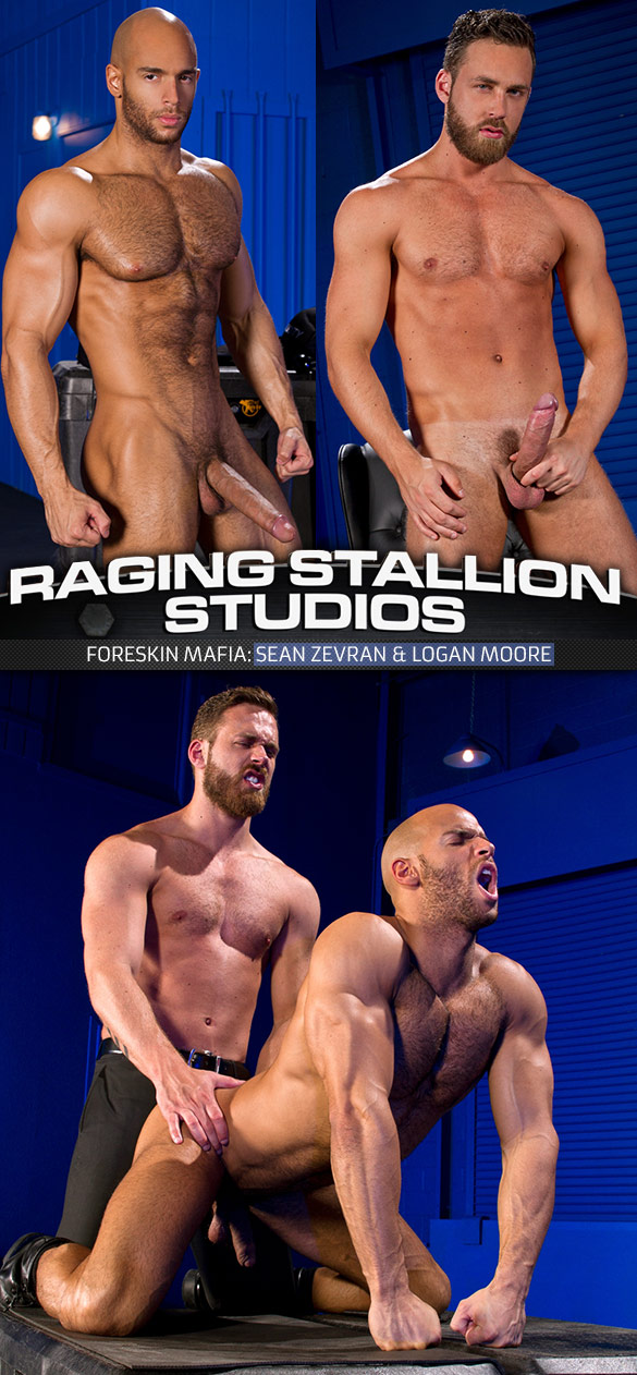 "Raging Stallion: Logan Moore fucks Sean Sevran in ""Foreskin Mafia"""