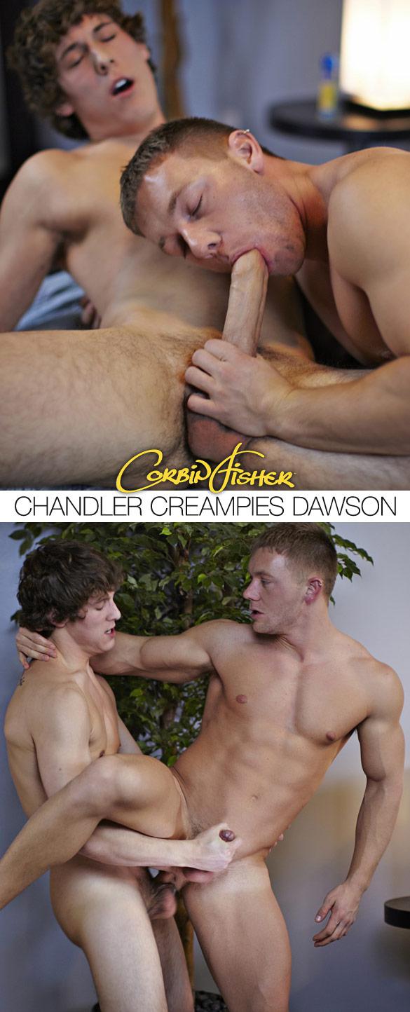 Corbin Fisher: Chandler creampies Dawson