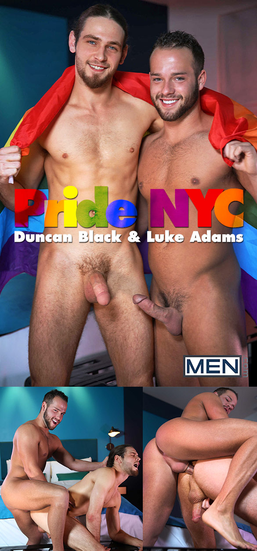 "Men.com: Luke Adams bangs Duncan Black in ""Pride NYC"""
