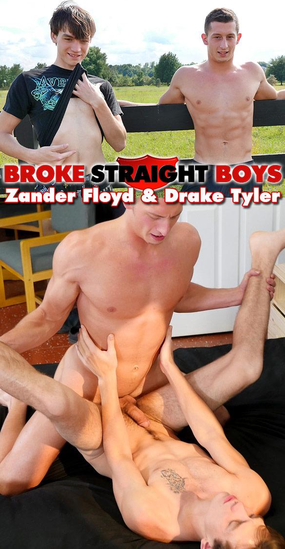 Broke Straight Boys: Drake Tyler barebacks Zander Floyd