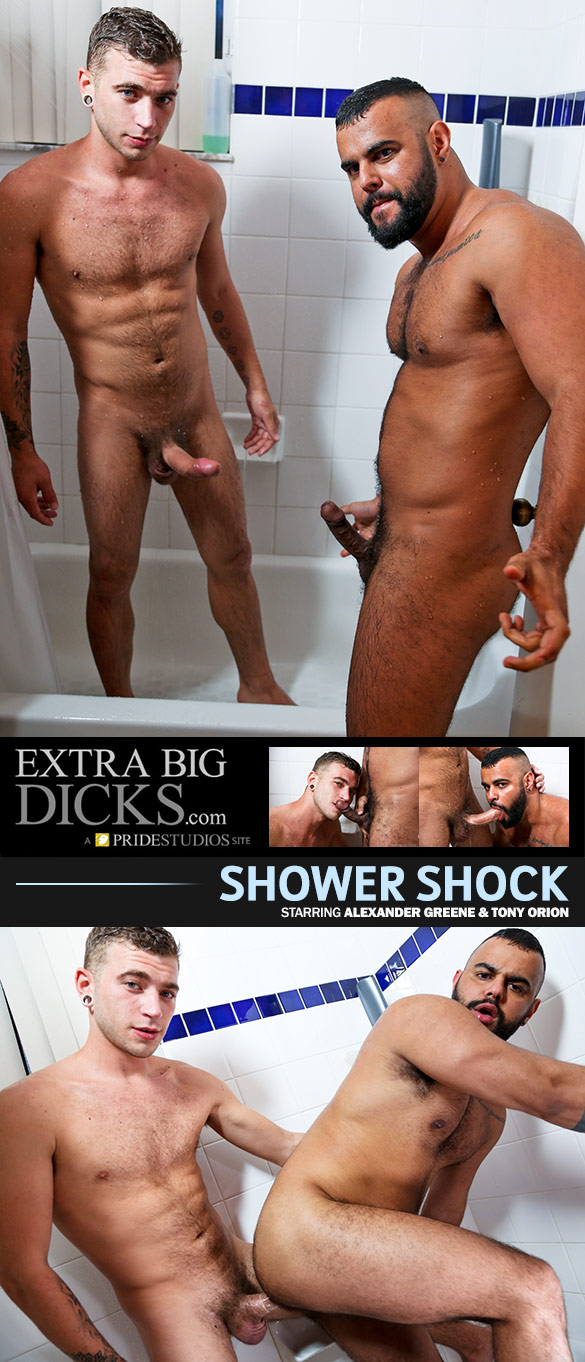 "PrideStudios: Alexander Greene fucks Tony Orion in ""Shower Shock"""