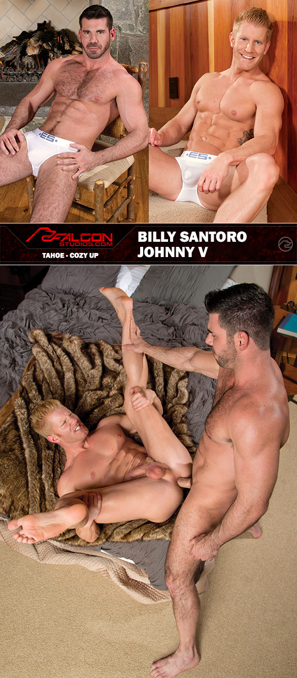 "Falcon Studios: Johnny V and Billy Santoro pound each other in ""Tahoe - Cozy Up"""
