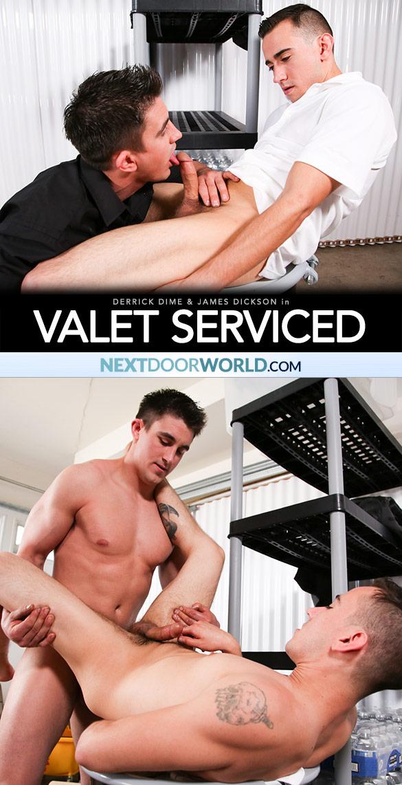 "Next Door World: Derrick Dime fucks James Dickson in ""Valet Serviced"""