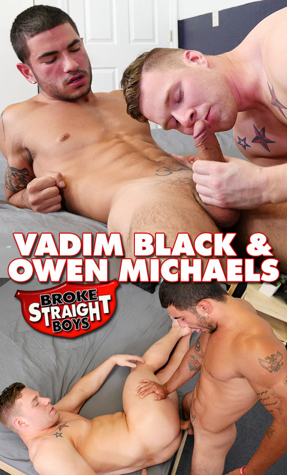 Broke Straight Boys: Vadim Black barebacks Owen Michaels