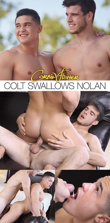Corbin Fisher: Nolan barebacks Colt