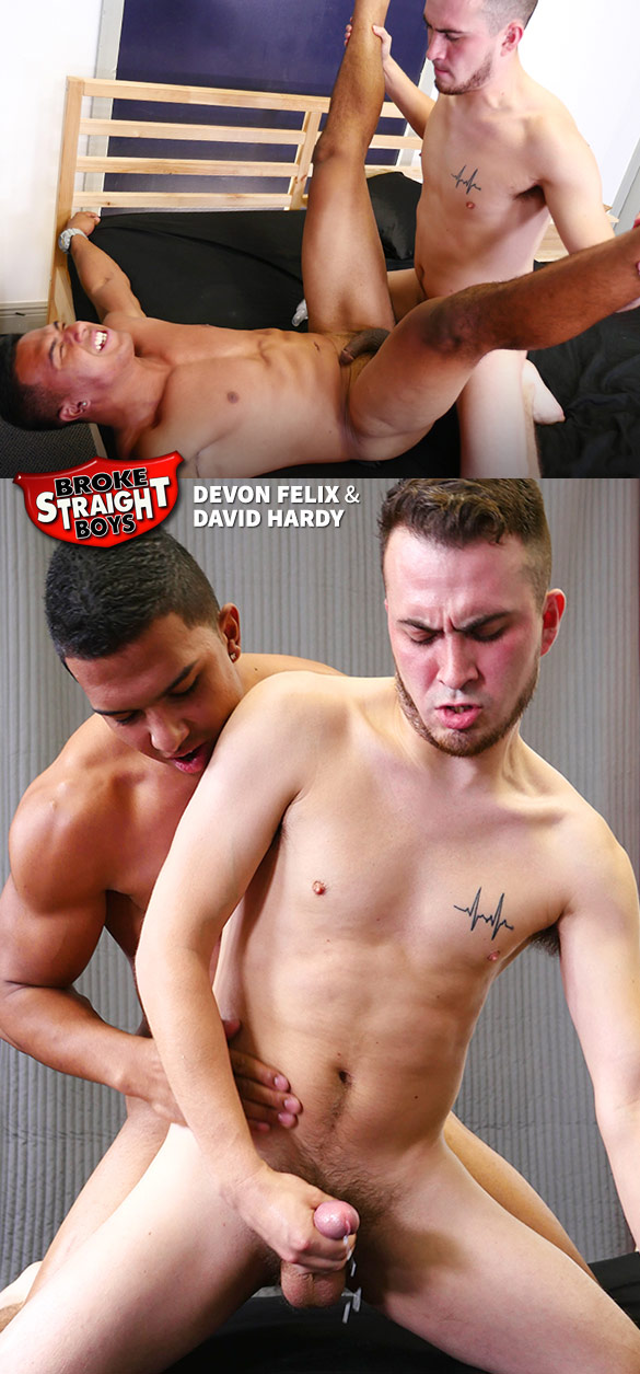 Broke Straight Boys: Devon Felix and David Hardy flip fuck bareback