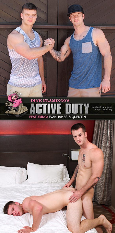 ActiveDuty: Ivan James and Quentin flip fuck bareback