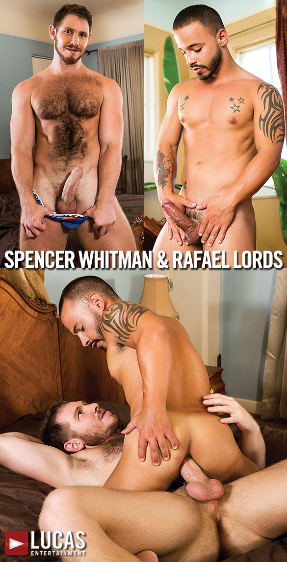 Lucas Entertainment: Spencer Whitman pounds Rafael Lords bareback