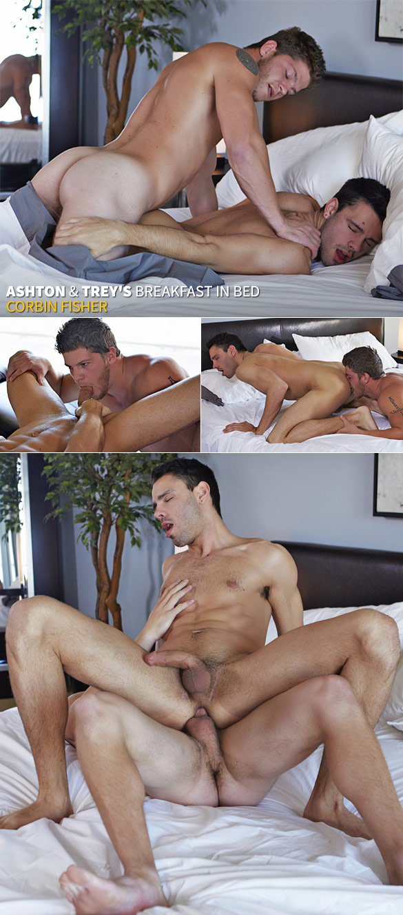 Corbin Fisher: Trey rides Ashton bareback