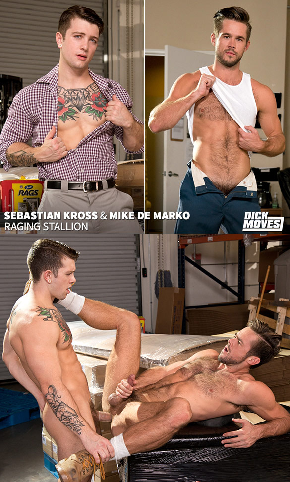 "Raging Stallion: Sebastian Kross bangs Mike De Marko in ""Dick Moves"""