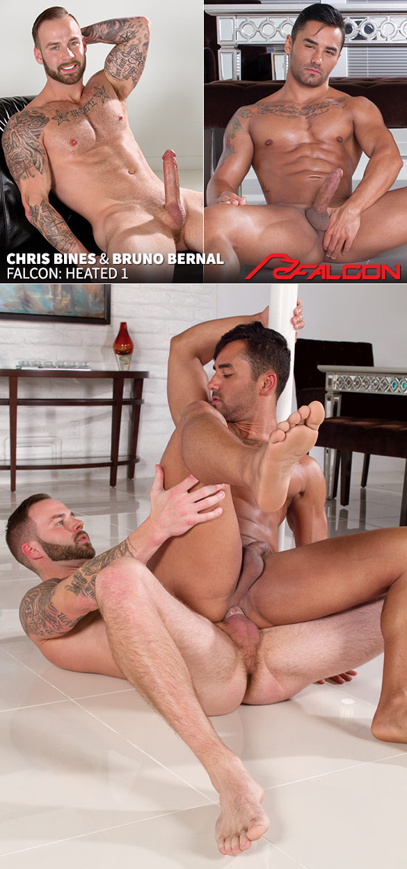"Falcon Studios: Chris Bines fucks Bruno Bernal in ""Heated 1"""