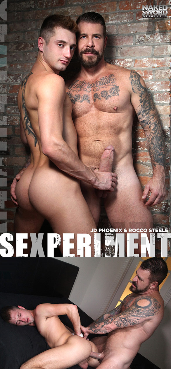 "NakedSword Originals: Rocco Steele fucks JD Phoenix in ""Sexperiment – Episode 4: Take My Pretty Hole Daddy"""