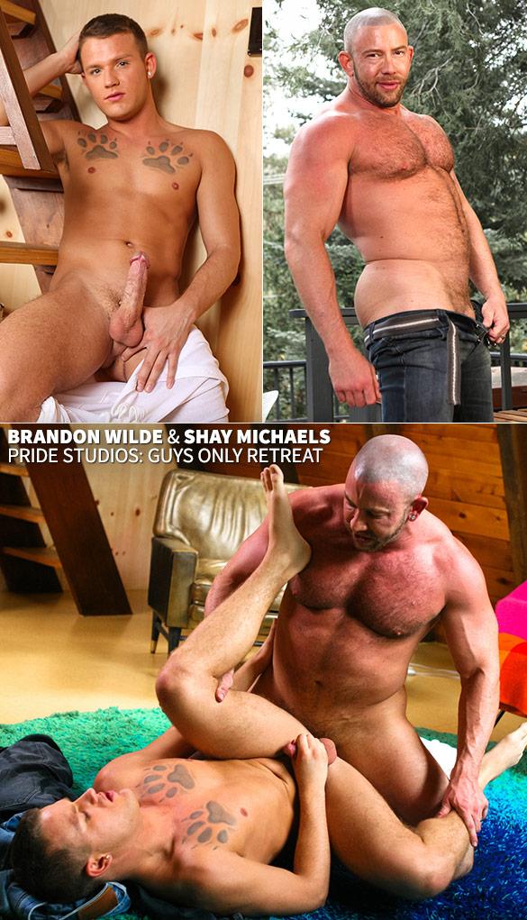 """Pride Studios: Shay Michaels bangs Brandon Wilde in """"Guys Only Retreat"""""""
