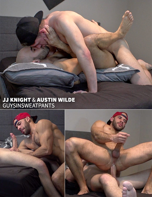 GuysInSweatpants: Austin Wilde takes JJ Knight's big cock raw