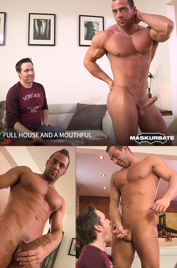 "Maskurbate: JP busts a nut in ""Full House and a Mouthful"""