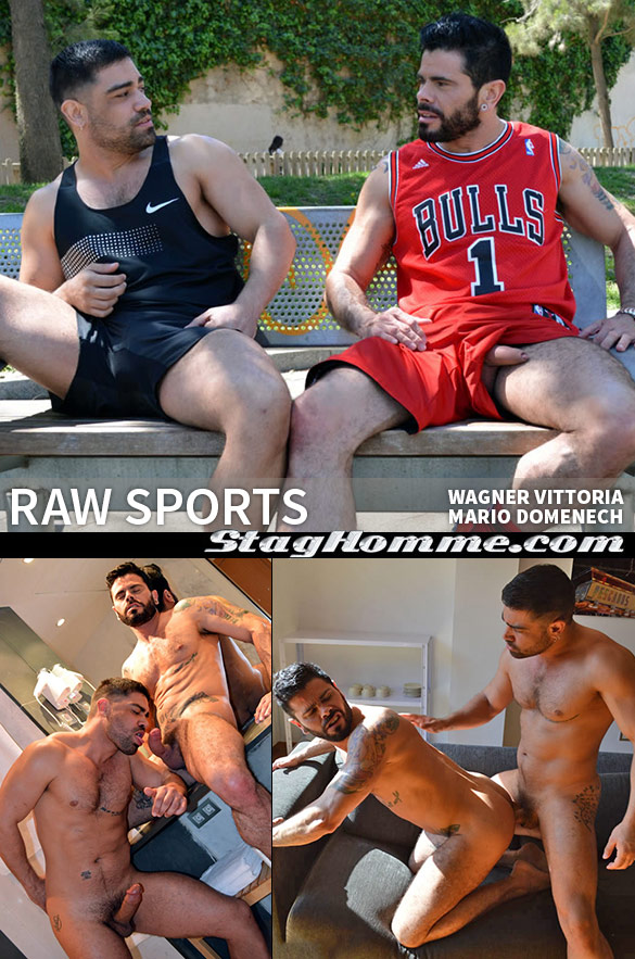 "Stag Homme: Wagner Vittoria barebacks Mario Domenech in ""Raw Sports"""
