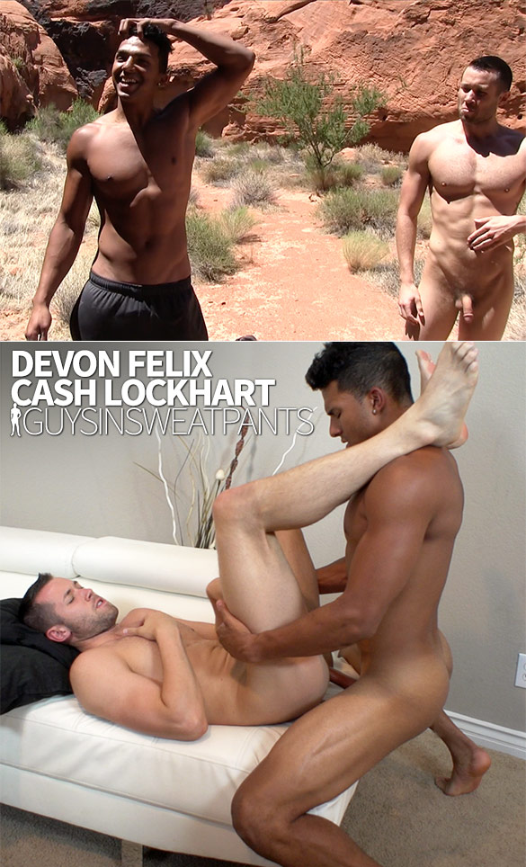 GuysInSweatpants: Cash Lockhart takes Devon Felix's load