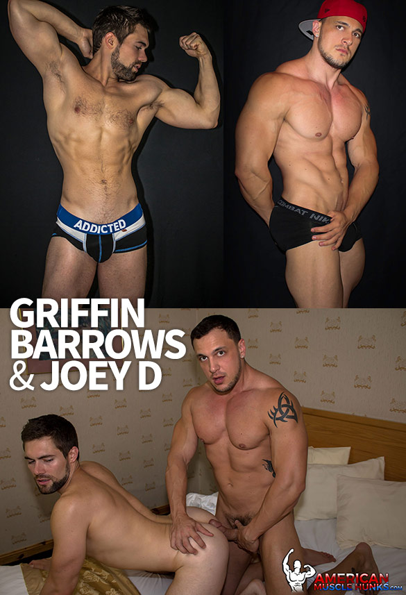 American Muscle Hunks: Joey D bangs Griffin Barrows