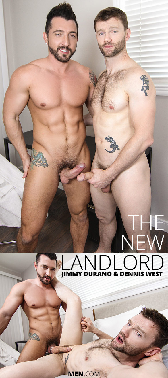 "Men.com: Jimmy Durano fucks Dennis West in ""The New Landlord"""