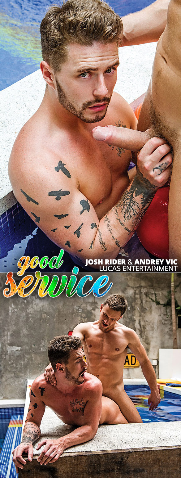 "Lucas Entertainment: Andrey Vic fucks Josh Rider's ass raw in ""Good Service"""
