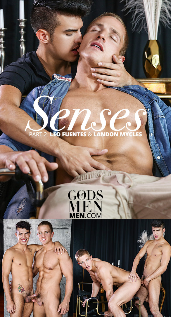 "Men.com: Landon Mycles bottoms for Leo Fuentes in ""Senses, Part 2"""