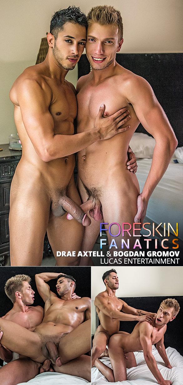 "Lucas Entertainment: Drae Axtell and Bogdan Gromov flip fuck bareback in ""Foreskin Fanatics"""
