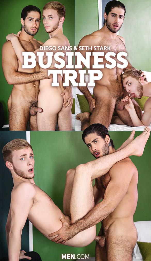 "Men.com: Diego Sans pounds Seth Stark in ""Business Trip"""