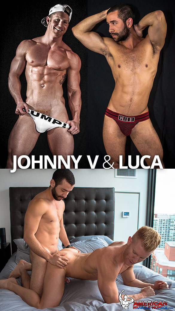 American Muscle Hunks: Luca bangs Johnny V