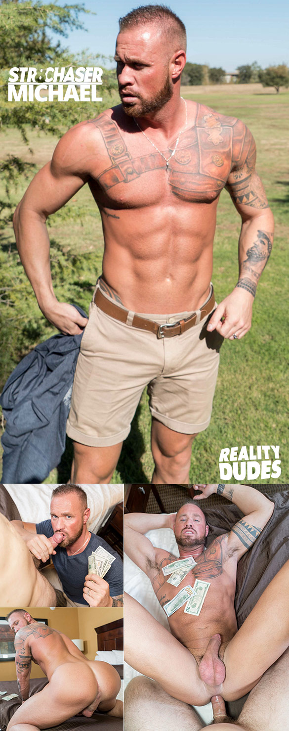 Reality Dudes: Muscle hunk Michael gets fucked for cash