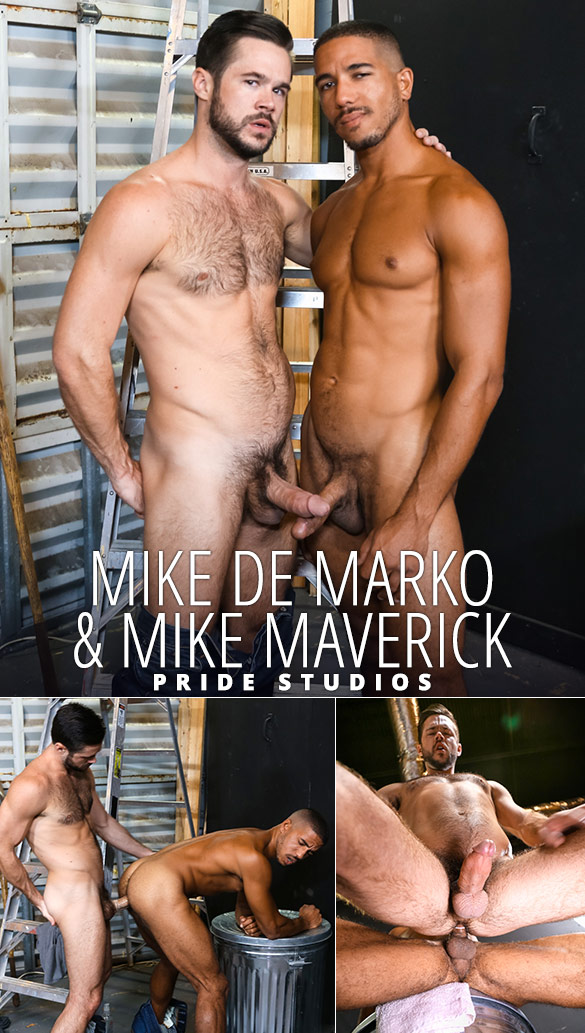 "Pride Studios: Mike De Marko and Mike Maverick fuck each other in ""Big Dick Rental"""