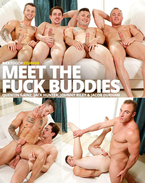 "Next Door Studios: Quentin Gainz, Jack Hunter, Johnny Riley and Jacob Durham in ""Meet the Fuck Buddies"""