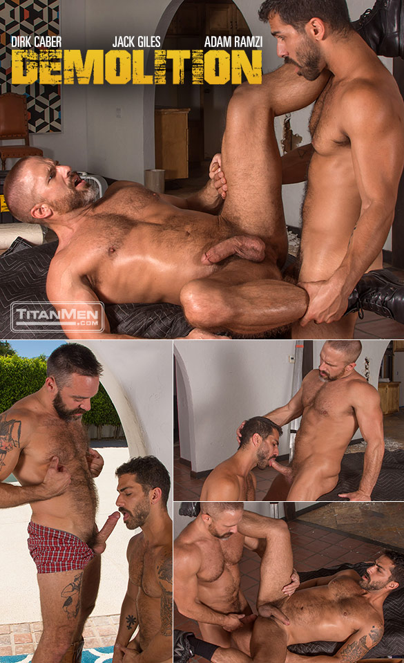 "TitanMen: Jack Giles, Adam Ramzi and Dirk Caber in ""Demolition"""