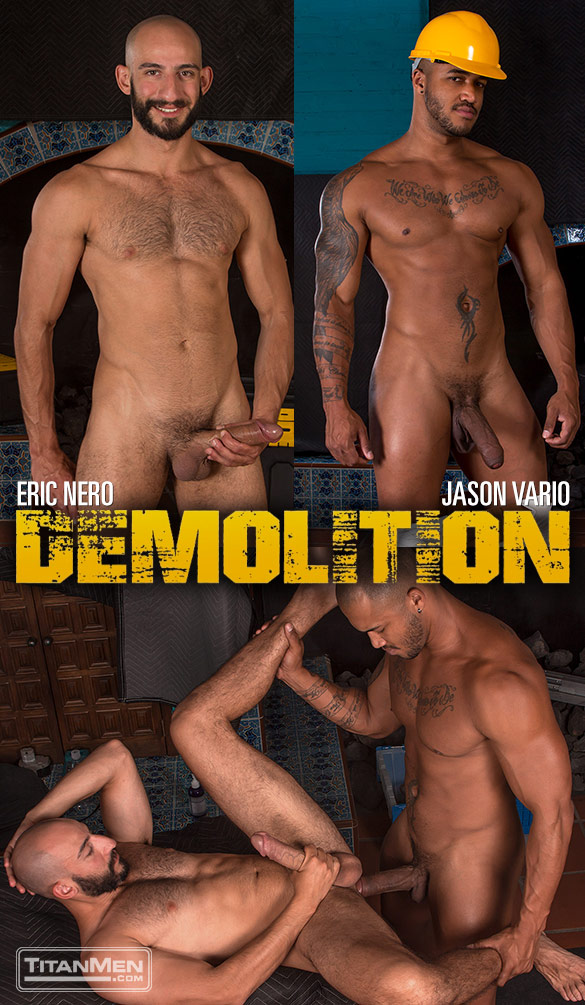 """TitanMen: Eric Nero bottoms for Jason Vario and his thick cock in """"Demolition"""""""