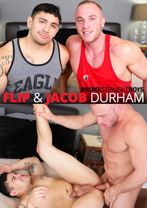 Broke Straight Boys: Flip gets fucked raw by muscle stud Jacob Durham