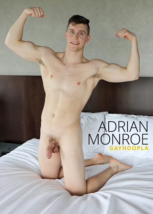 GayHoopla: Adrian Monroe rubs one out