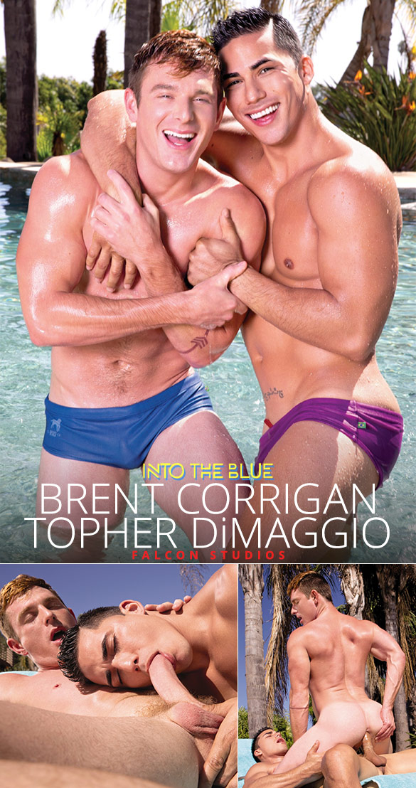 """Falcon Studios: Brent Corrigan rides Topher DiMaggio in """"Into the Blue"""""""