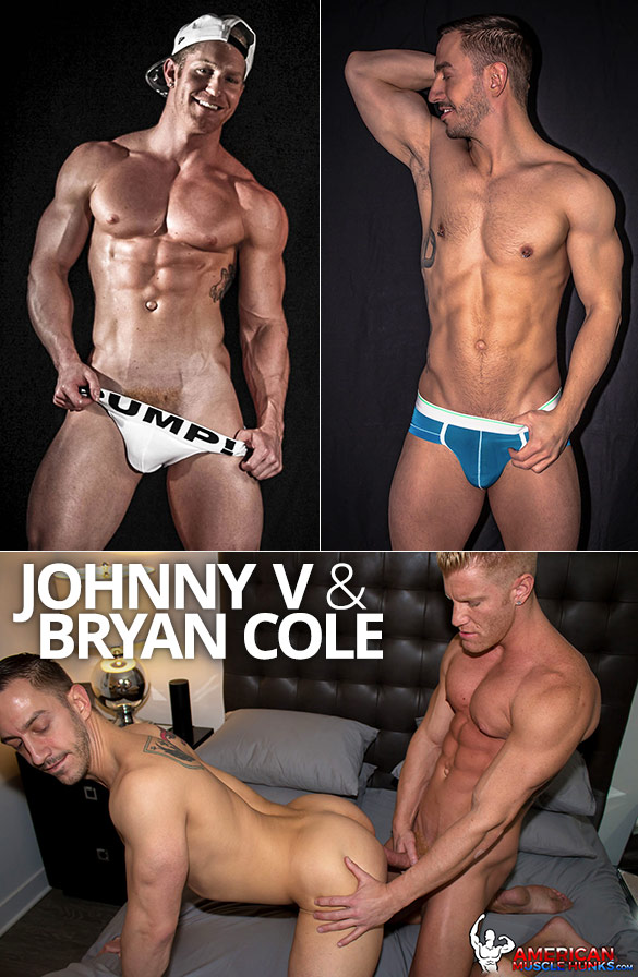 American Muscle Hunks: Bryan Cole gets pounded by Johnny V