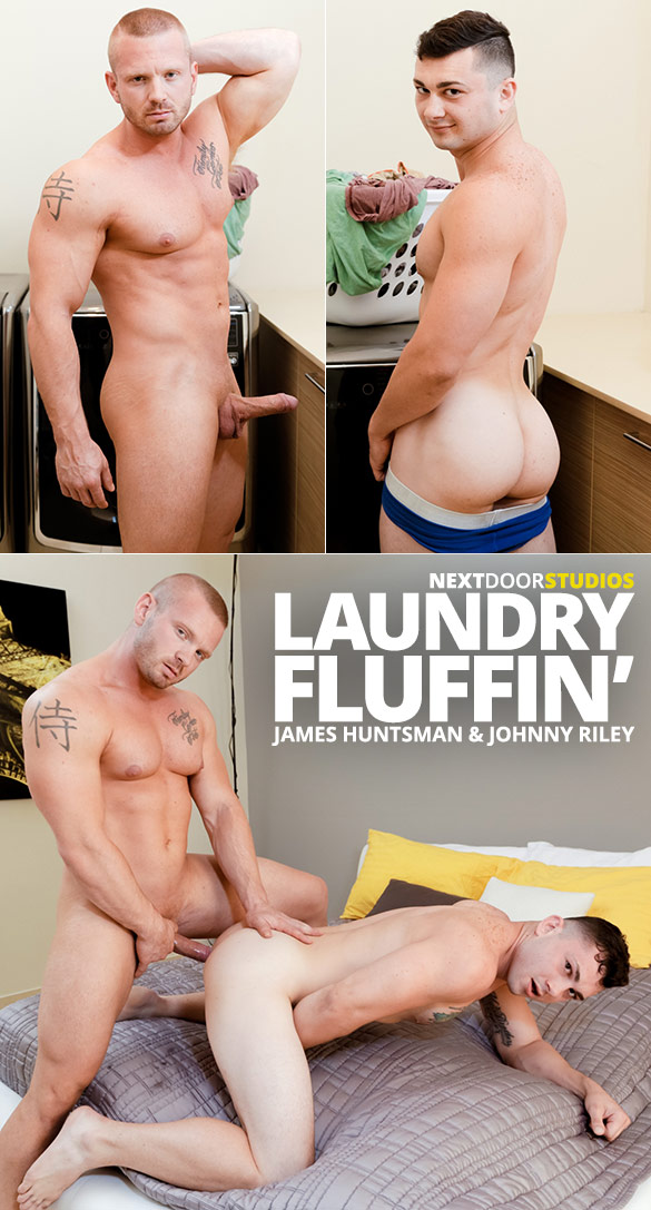 "Next Door Studios: James Huntsman fucks Johnny Riley in ""Laundry Fluffin'"""
