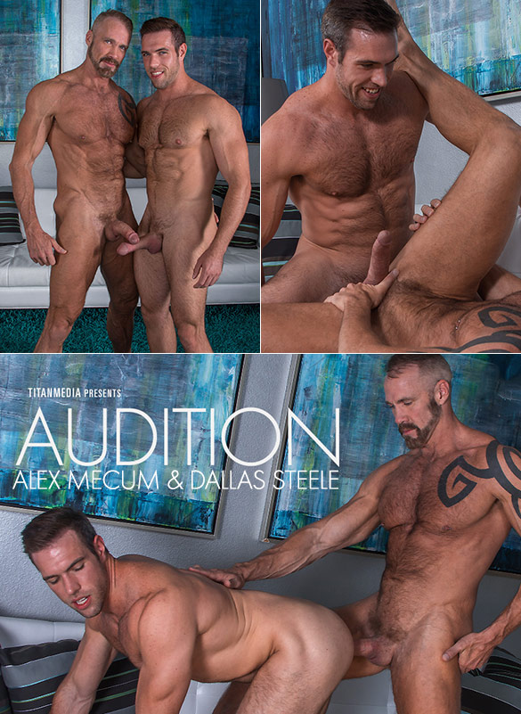 "TitanMen: Dallas Steele and Alex Mecum flip fuck in ""Audition"""