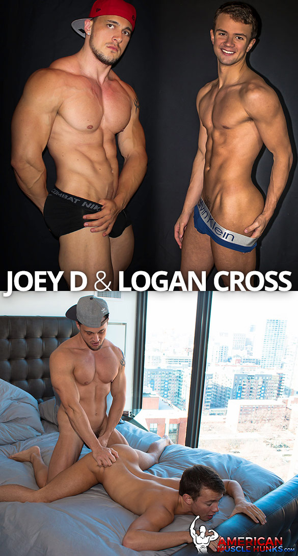 American Muscle Hunks: Joey D bangs Logan Cross
