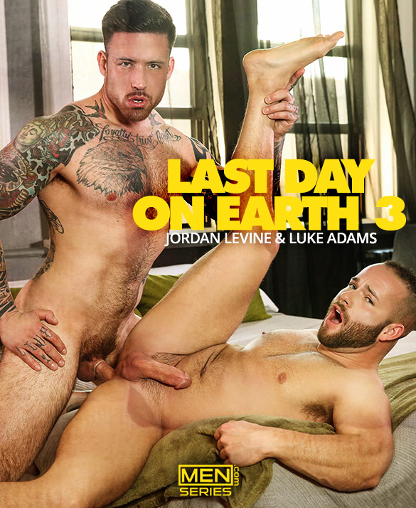 "Men.com: Jordan Levine fucks Luke Adams in ""Last Day on Earth, Part 3"""