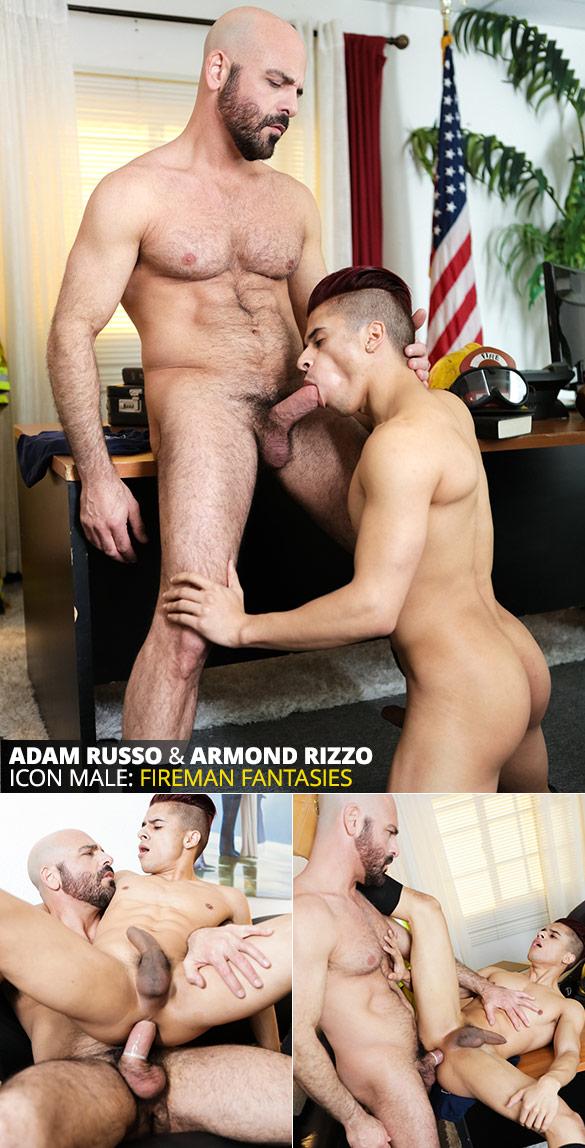 """IconMale: Adam Russo fucks Armond Rizzo in """"Firemen"""""""