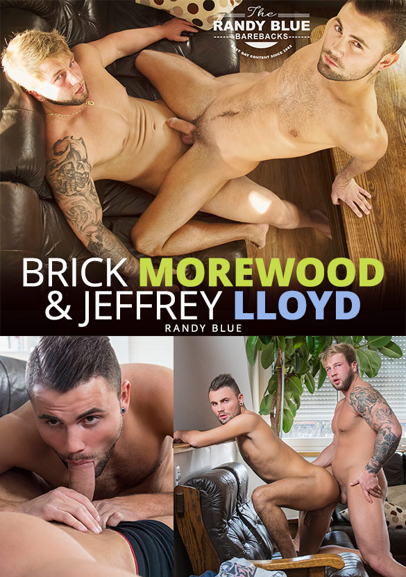 Randy Blue: Beefy hunk Brick Moorewood fucks Jeffrey Lloyd raw