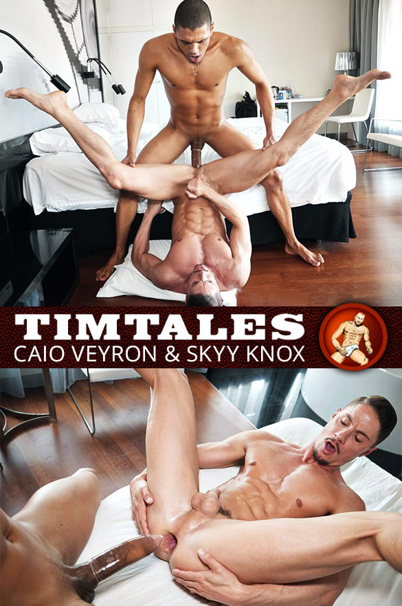 TimTales: Skyy Knox bottoms for Caio Veyron and his 11-inch cock