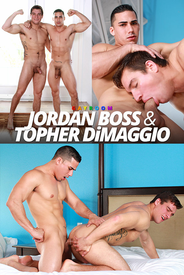 "GayRoom: Topher DiMaggio fucks Jordan Boss in ""Rub Me Harder Bro"""