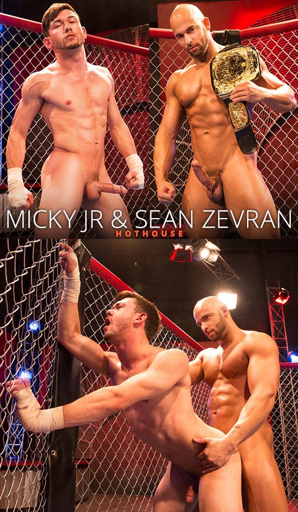 "HotHouse: Sean Zevran bangs Micky Jr in ""TKO Total Knockouts"""