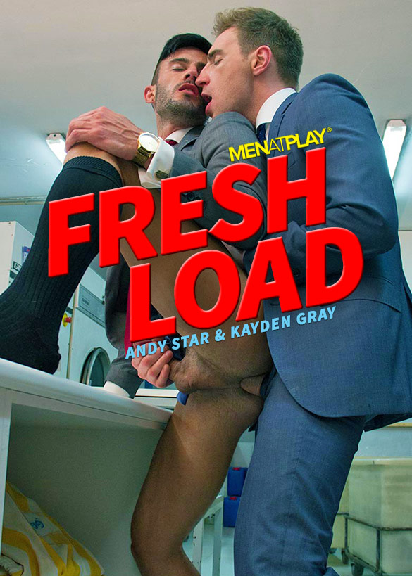 "MenAtPlay: Kayden Gray bangs Andy Star in ""Fresh Load"""
