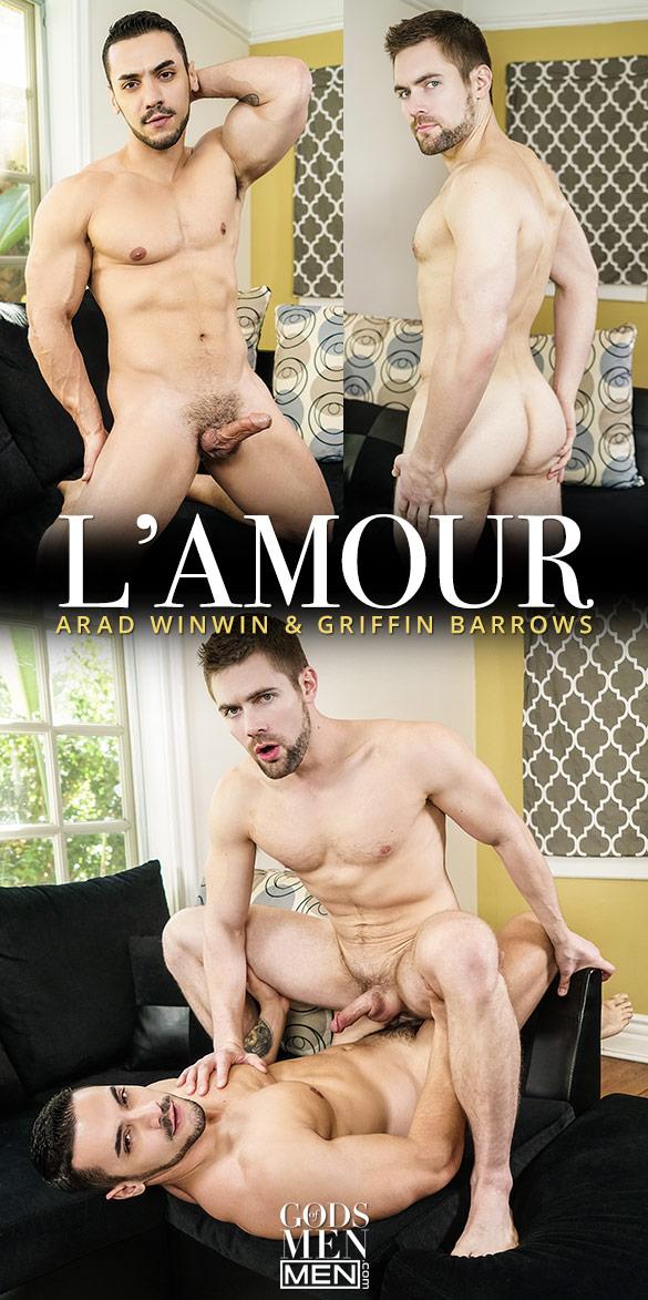 """Men.com: Arad Winwin fucks Griffin Barrows in """"L'Amour"""""""