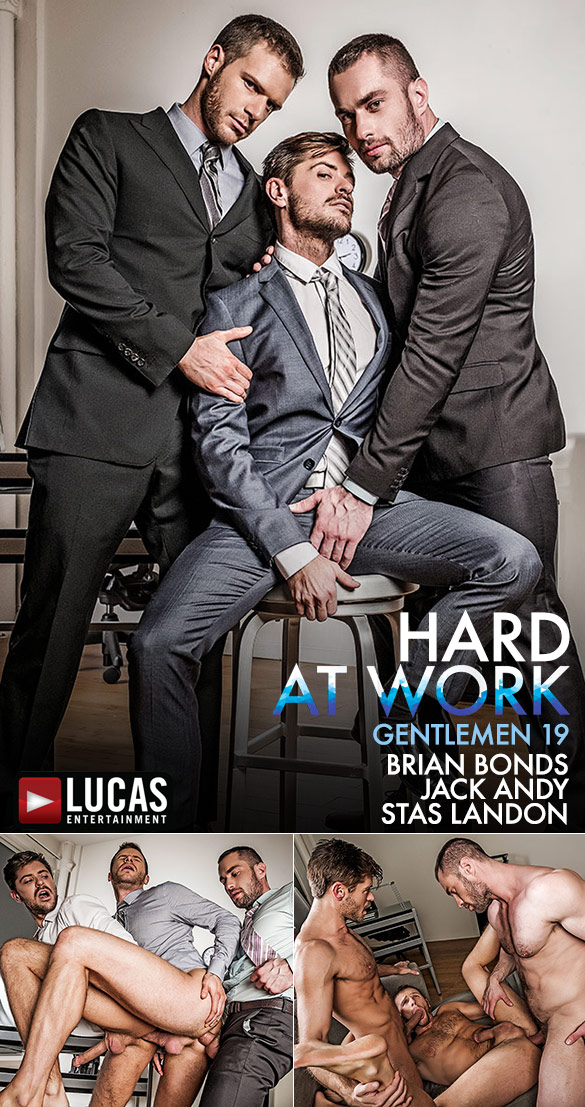 "Lucas Entertainment: Stas Landon and Jack Andy double penetrate Brian Bonds in ""Gentlemen 19: Hard At Work"""